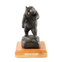 Original John L. Clarke Grizzly Bronze Sculpture