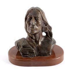 Charles Russell Silent Thunder Bronze Sculpture