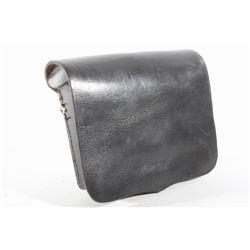 Civil War Black Leather Musket Cartridge Box