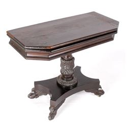 French Folding Mahogany Game Table c. 1740 -
