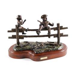 "Original G.C. Wentworth Bronze ""Pa's Buffalo Gun"""