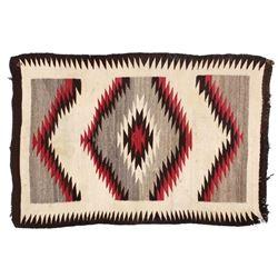 Early Navajo Eye Dazzler Pattern Wool Rug c. 1900-