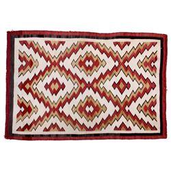 Exceptional Navajo Eye Dazzler Pattern Wool Rug