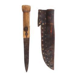 Blackfoot Tacked Sheath w/ Trade Knife c. 1870-