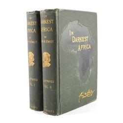 In Darkest Africa by H.M. Stanley 1st Ed. w/ Maps
