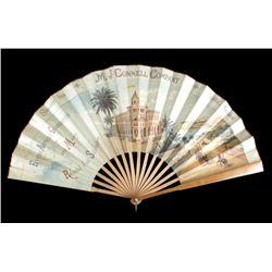 MJ Connell Company Souvenir Fan Butte, MT c.1891-