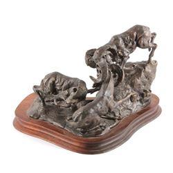 Danny Edwards Bighorn Rams Bronze Sculpture