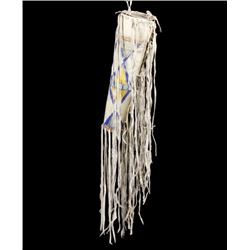 Crow Indian Parfleche Headdress Case Circa 1900-