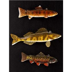 J. Strickland Hand Carved & Painted Fishing Decoys