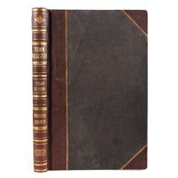 Town Register Ledger Book of Pony, Montana c.1902