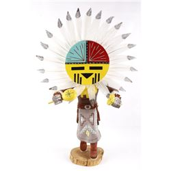 Large L Vandever Signed Hopi Sunface Kachina Doll