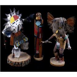 Collection of Hopi Kachina Dolls (3)