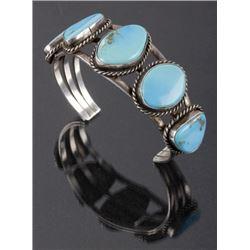 Navajo Morenci Turquoise & Sterling Bracelet