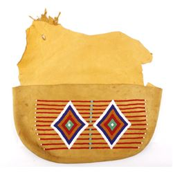 Northern Plain Native American Beaded Document Bag