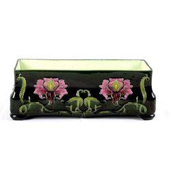 Julius Dressler Art Nouveau Majolica Flower Pot