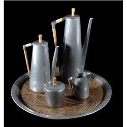 Daalderop Royal Holland Pewter Coffee Set 1950's