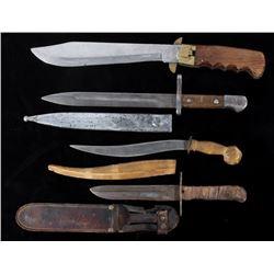 Various Bayonet, Folding & Fixed Blade Knives