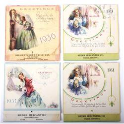 Valier, MT Mercantile Advertising Calendars 1930's