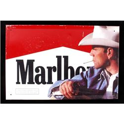 Vintage Marlboro Man Cigarette Advertising Sign