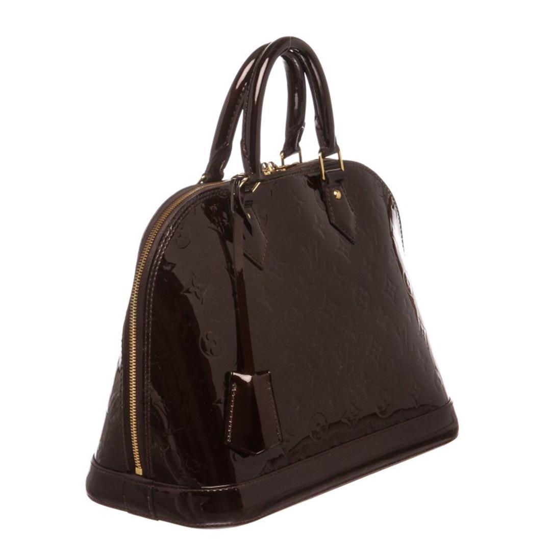 aa2bbdec7b Image 1 : Louis Vuitton Vernis Amarante Leather Monogram Alma PM Bag ...