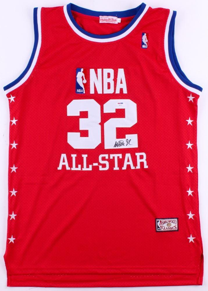fb328685191 Image 1   Magic Johnson Signed NBA All Star Jersey (PSA COA)
