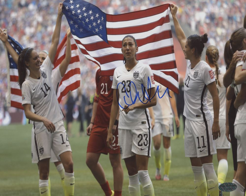 ce4de473d32 Image 1   Christen Press Signed Team USA 8x10 Photo (Leaf COA)