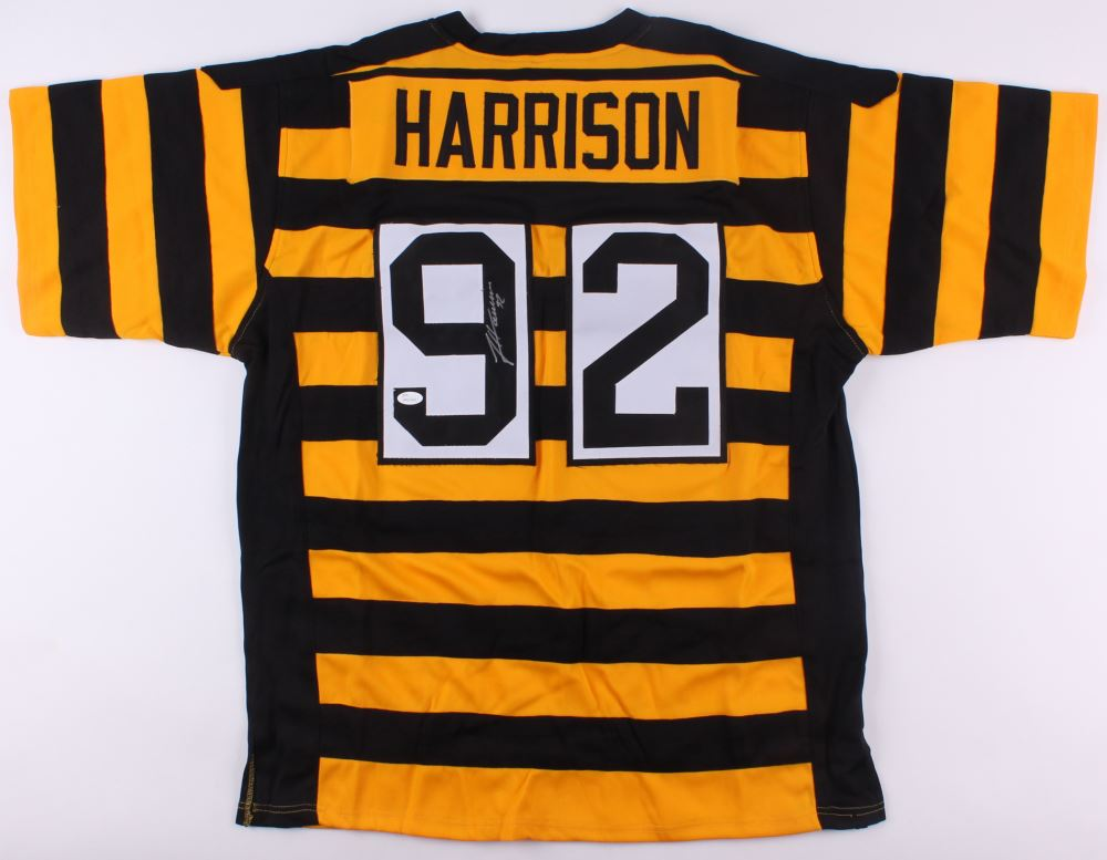 newest c4be5 28260 James Harrison Signed Throwback Steelers Jersey (JSA COA)