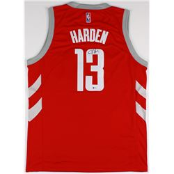 the latest 961b9 2becb James Harden Signed Rockets Chinese New Year Jersey ...