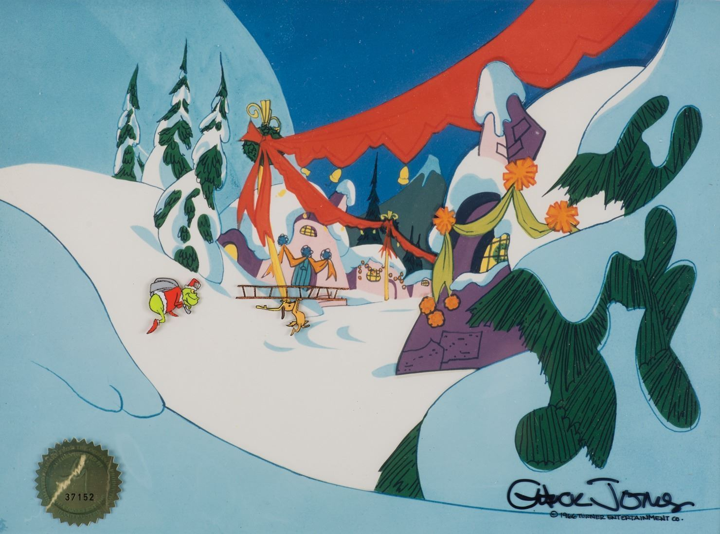 How The Grinch Stole Christmas 1966 Max.Grinch And Max Production Cels From How The Grinch Stole Christmas