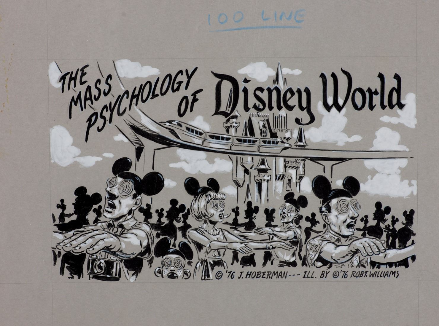 Robert Williams illustration painting of Disney World for Arcade