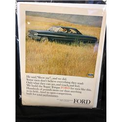 VINTAGE FORD AUTOMOBILE ADVERTISING