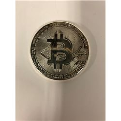 Bitcoin 1 oz .999 Pure Solid Silver Plated Commemorative Coins Collectible (RARE)