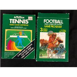 VINTAGE VIDEO GAME LOT (ACTIVISION TENNIS, ATARI FOOTBALL)