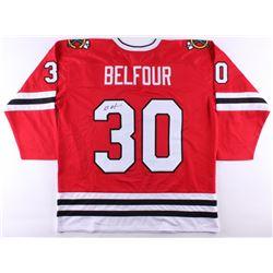Ed Belfour Signed Blackhawks Jersey (JSA COA)