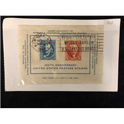 100TH ANNIVERSARY UNITED STATES POSTAGE STAMPS LOT