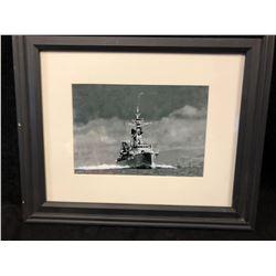 "WORLD WAR II NAVY SHIP FRAMED PRINT (11"" X 14"")"