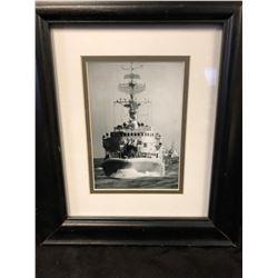 "WORLD WAR II NAVY SHIP FRAMED PRINT (12"" X 12"")"