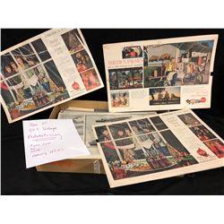 BOX OF 50 + VINTAGE ADVERTISING (COCA COLA, AUTOMOBILES. WWII)