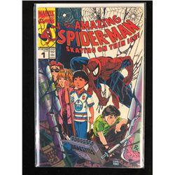 1990 AMAZING SPIDER-MAN #1 SKATING ON THIN ICE (MARVEL COMICS)