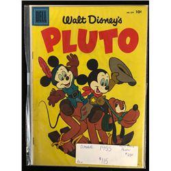 1955 PLUTO #654 -FOIL COVER- WALT DISNEY'S PLUTO (DELL COMICS)