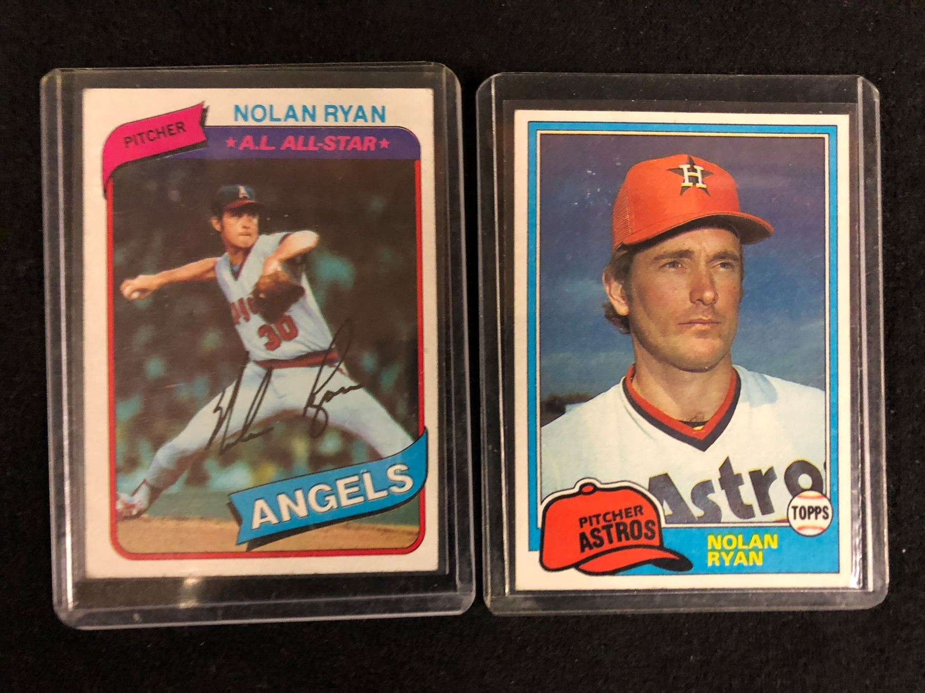 Nolan Ryan Baseball Trading Cards Lot
