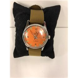 CAMY REFURBISHED MECHANICAL MILITARY STYLE W/ NYLON STRAP - 17 JEWELS- (WORKING CONDITION)