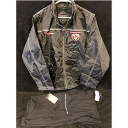 NIKE/ BAUER VANCOUVER GIANTS WARM UP JACKET & PANTS (SMALL)