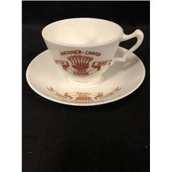 VINTAGE VANCOUVER-CANADA 1954 BRITISH GAMES CUP & SAUCER (FINE CHINA)