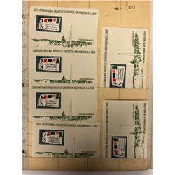 1956 U.S.A FIVE CENT STAMPS LOT (6TH INTERNATIONAL PHILATELIC EXHIBITION, WASHINGTON D.C)
