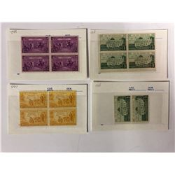 U.S.A THREE CENT POSTAGE STAMPS LOT (GUNSTON HALL, CALIFORNIA, CONSTITUTION)