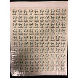 CANADIAN TWO CENT STAMP LOT (UNCUT SHEET)