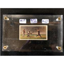 BABE RUTH RARE 1929 Churchman's Sports Tobacco Baseball Card (MINT)