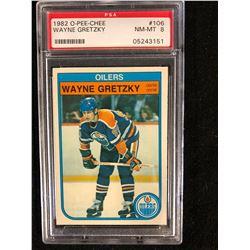 1982 O-PEE-CHEE #106 WAYNE GRETZKY (NM-MT 8) PSA