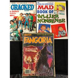 VINTAGE CRACKED, MAD & FANGORIA MAGAZINES LOT